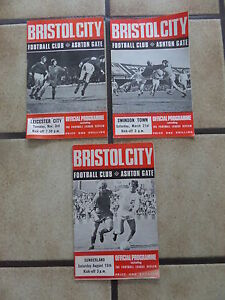 3 x Bristol City Home Football Programmes  Div 2  196970 - <span itemprop=availableAtOrFrom>London, London, United Kingdom</span> - 3 x Bristol City Home Football Programmes  Div 2  196970 - London, London, United Kingdom