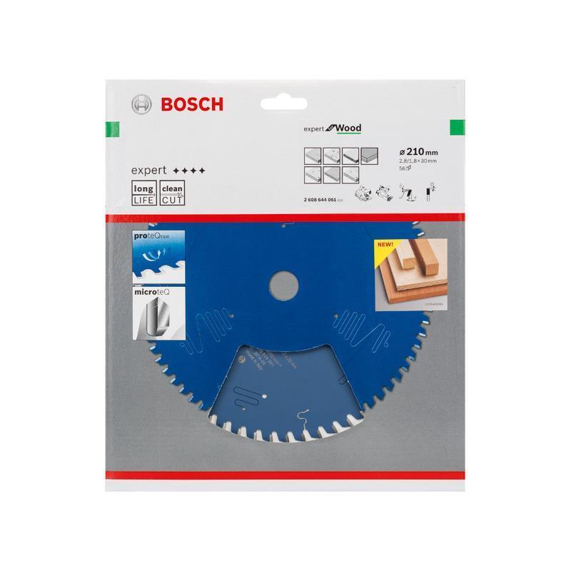 Bosch Hm-Sägeblatt 210x2,8x30 Z56 2608644061 Expert for Wood, für Handkreissägen