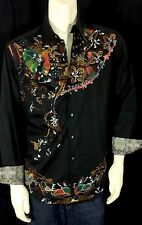 Robert Graham Limited Edition Men's Paisley Button Front Casual Dress Shirt M