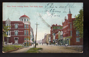 Fort Scott Ks >> Details About Fort Scott Kansas Ks 1908 Main Street Looking North Vintage Postcard