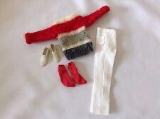 Barbie Ken Vintage Campus Hero #770 1961 Sweater Red White Pants School Stripe