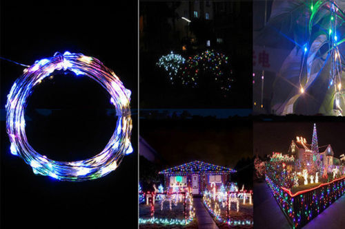 1//2//3//5 M Christmas Battery Mini LED Copper Wire String Lights Party Xmas Decor