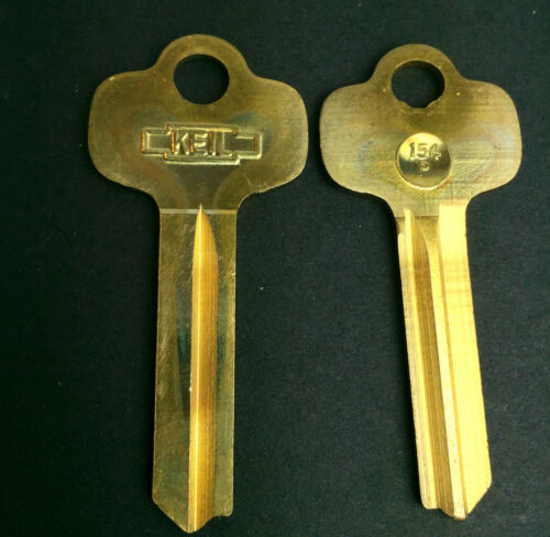 VTG Lot of 2 KEIL 154-P Metal Key Blanks Uncut Keys Made USA