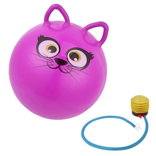 Kinder Hüpfball Hüpfball Sprungball Skippy Katze Weltraum-Hüpfer 45cm