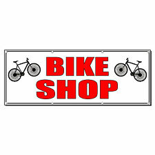 BIKE SHOP Business 4 ft x 8 ft Banner Sign w/8 Grommets