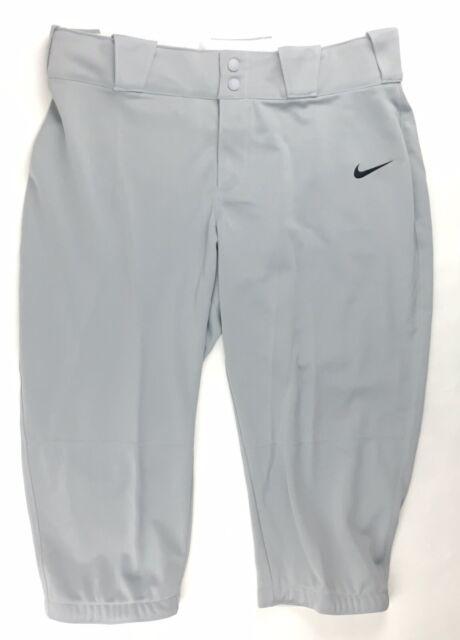 Nike Diamond Invader 3/4 Softball Game Pant Women's Medium Gray 700877-052