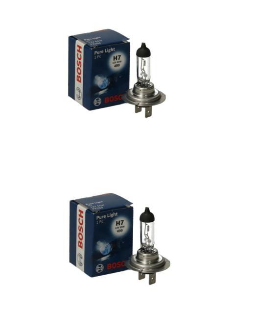 2x Bosch H7 55W 12V PX26d 1987302777 Fernlicht Abblendlicht Halogen Ersatz Birne
