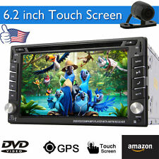 Camera+In Dash GPS Navigation Car DVD CD Player Audio Video Stereo MP4 Head Unit