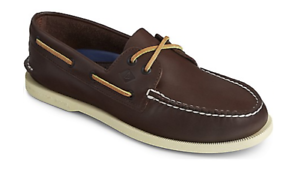 Sperry Top-Sider A/O Authentic Original 2 Eye Brown Boat Shoe Men's sizes 7-16