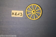 (H213.1) playmobil pièce roue chariot sudiste western 3784/3785