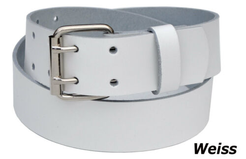 80 bis 160cm Bundweite F/&L Wählbar 4cm Breit Echt Leder Guertel ab 15,90 Euro