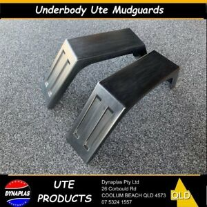 2-x-BLACK-UTE-TRAY-TOP-MUDGUARDS-POLY-PLASTIC-TRUCK-4X4-4WD-FITS-ALL-TRAYS-NEW