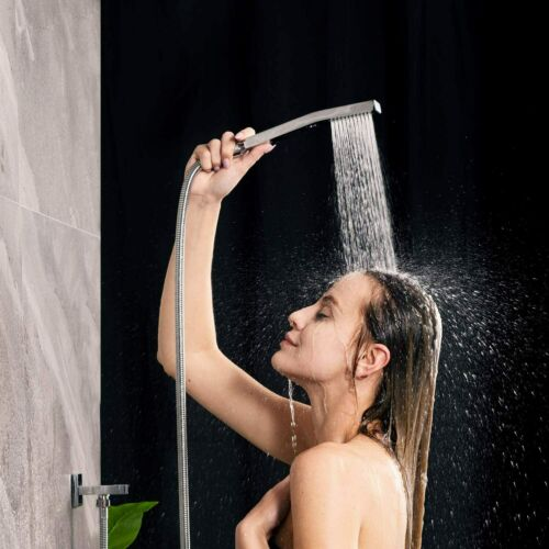 10 Inches Chrome Bathroom Luxury Rain Mixer Shower System Set Wall Mounted Mixer