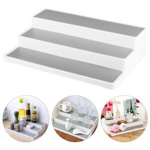 White-3-Tier-Shelf-Jar-Rack-Holder-Cupboard-Organiser-Storage-Kitchen-Tool-UK