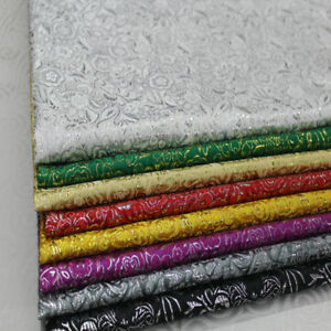 Korean-Dress-Costume-Lace-Diy-Trim-Jacquard-Damask-Gold-Silk-Brocade-Fabric-bee