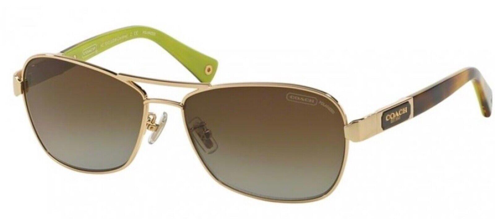 ~COACH~ HC 7012 SUNGLASSES Gold & Light Tortoise 🕶 NEW Metal Caroline