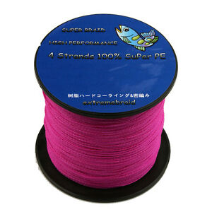 Pro good 100 pe pink 100 1000m 6 100lb dyneema power for Pink braided fishing line