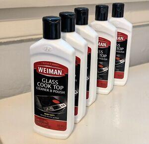 5 bottles Weiman Glass Cook Top Heavy Duty Cleaner & Polish, 10 oz   eBay