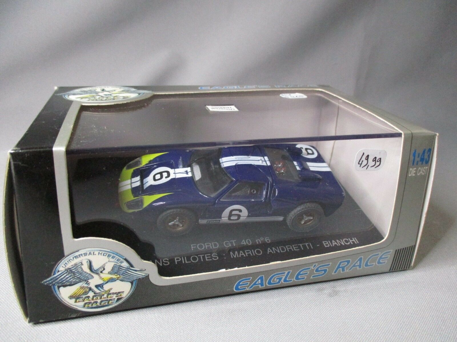 DV5465 UNIVERSAL HOBBIES EAGLE'S RACE FORD GT 40  6 LE MANS 1966  ANDRETTI
