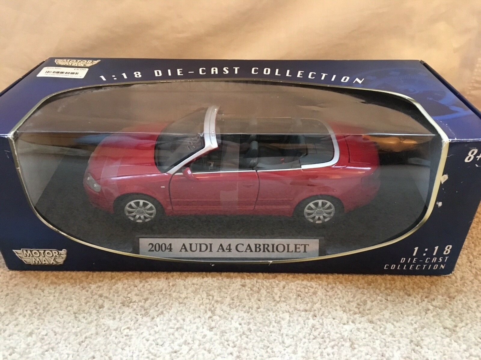 2004 Audi A4 Cabriolet 1 18 Red. Collectible Diecast, Motor Max