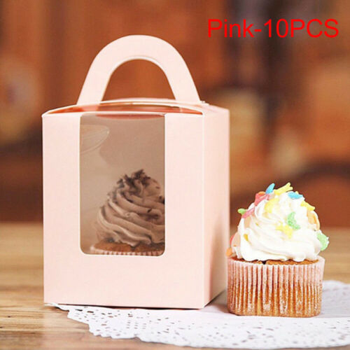 Paper With Window Cupcake Boxes Candy Wrapping Bag Cake Package Paper Gift Box