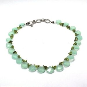 Natural-Chalcedony-Faceted-Heart-Briolette-Gemstone-Necklace-18-20-inches