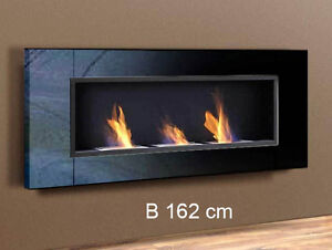 luxus kamin bio ethanol gelkamin wall fireplace cheminee black high gloss ebay. Black Bedroom Furniture Sets. Home Design Ideas