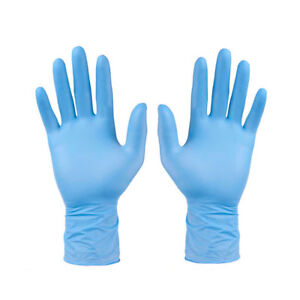 100Pcs-Comfortable-Rubber-Disposable-Mechanic-Nitrile-Gloves-Blue-Medical-Exam