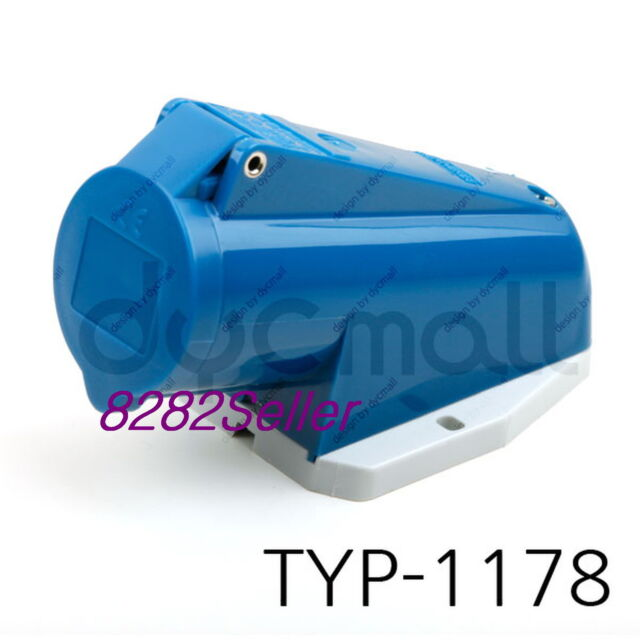 IP44 230V 16A 2P+E MENNEKES TYP 1366 NO.1366 Panel mounted receptacle socket