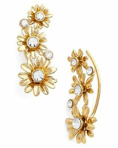 Image Is Loading Kate Spade Dazzling Daisies Earrings Nwt Gold Petaled