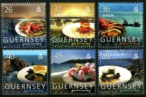GUERNSEY-2005-EUROPA-GASTRONOMY-SET-OF-ALL-6-COMMEMORATIVE-STAMPS-MNH