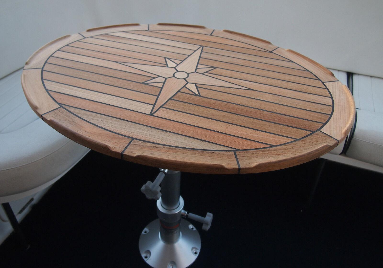 Teak Table - Nautic Star  Ellipes  - Two Sizes Available - Marine - Boat - Yacht
