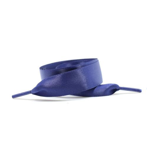 Shoe Lace Shoelaces Thick Trainer Boot Multicolor Women Flat Ribbon Satin Sport