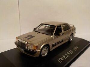 Mercedes-190-e-2-3-16-Senna-1984-Modelo-Coche-1-43-Atlas-Editions