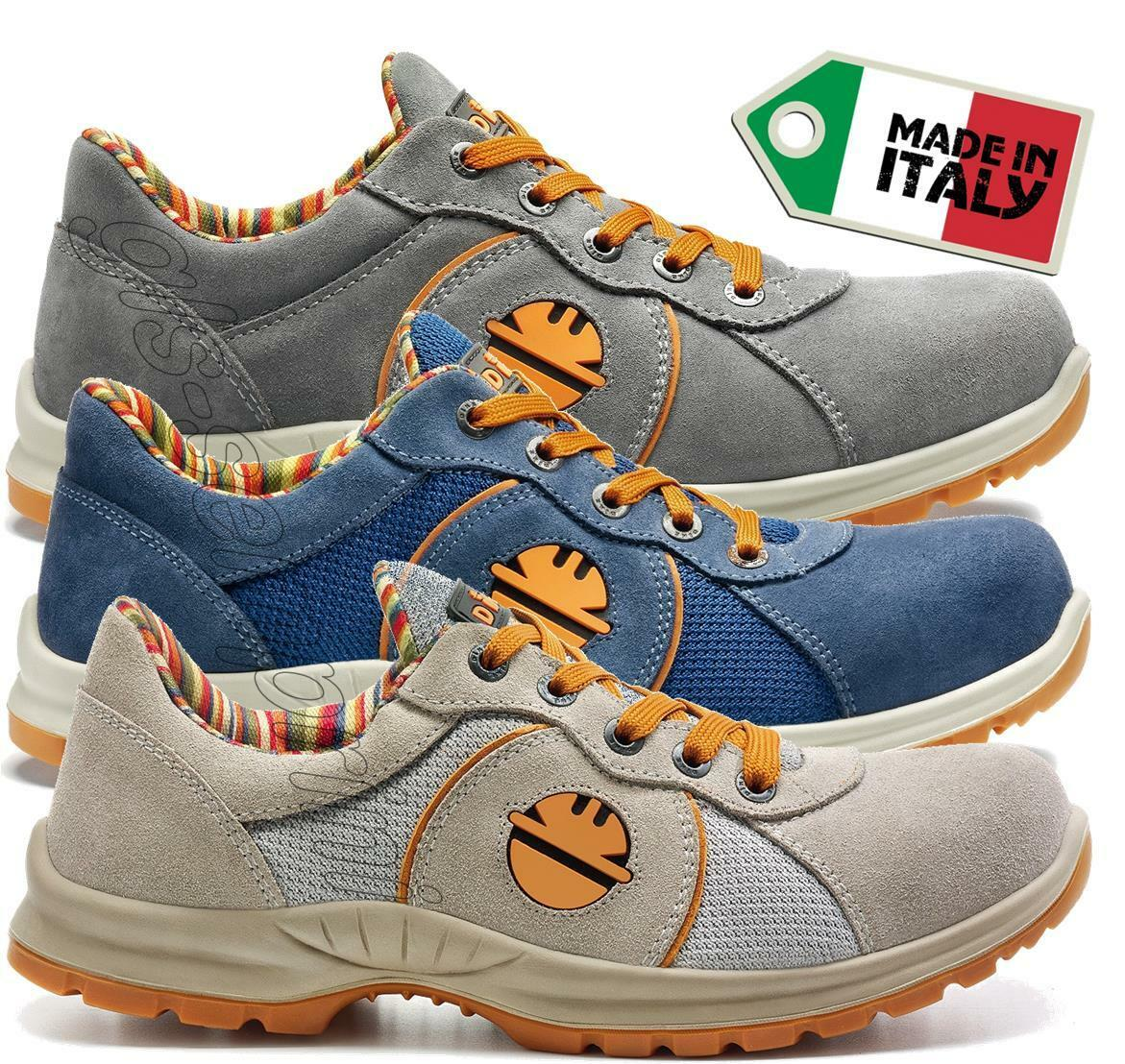 MENS LEATHER WORK SAFETY SHOES TRAINERS TOE CAP DIKE ADVANCE S1P SRC 23716