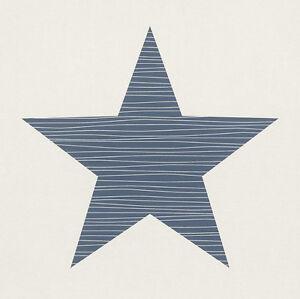 EUR-1-49-qm-Sterntapete-Tapete-Sterne-Rasch-Bambino-245523-Weiss-Blau