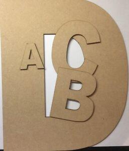 Doux En Bois Suspendu Mdf Laser Cut Alphabet Arial Lettres & Chiffres, 9 Mm D'épaisseur Craft-afficher Le Titre D'origine