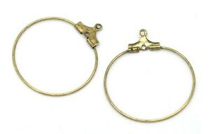 100PCS-Antiqued-Bronze-wine-glass-hoop-charm-wire-earrings-30mm-22656