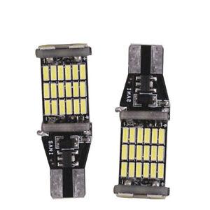 2x-T15-W16W-45-SMD-4014-6000K-Error-Free-LED-Car-Reverse-Back-Light-Bulbs-White