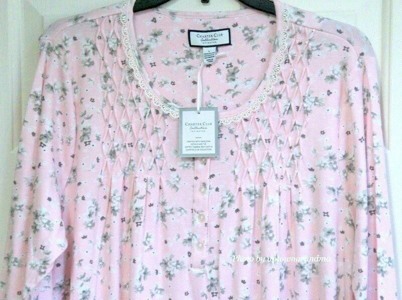 Charter Club Womens Nightgown XL 100% Cotton Long Sleeve Gown Sleepwear NEW