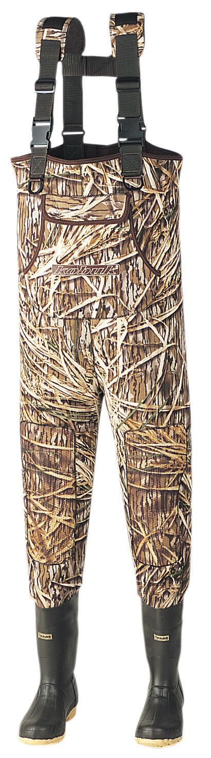 New Men 5mm Original Shadow Grass Neoprene Fishing Hunting Wader Lug Sole Sz 10K