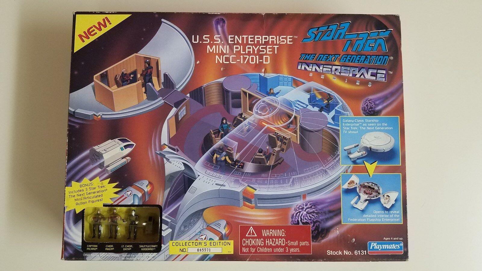 U.S.S. Enterprise Mini Playset Collector's Edition Star Trek Next Generation Generation Generation dd3620