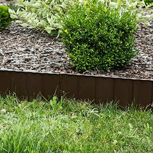 Dark braun 29.8m Frost Proof Flower Bed Easy Simple Assembly Lawn Border
