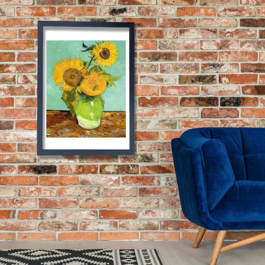 Vincent Van Gogh - Sunflowers, 1888 Wall Art Poster Print
