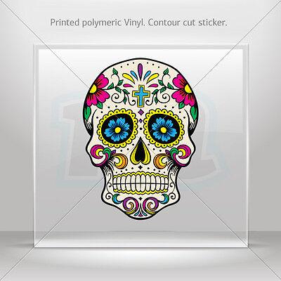 Decals Stickers Floral Skull Helmet Motorbike Bike vinyl bike st5 RSX94
