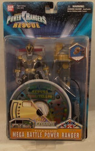 Power Rangers Lightspeed Rescue 5  Mega Battle Titanium Ranger Interactive CD