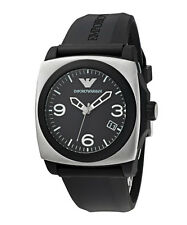 EMPORIO ARMANI AR5886 MENS SPORT BLACK & BRUSHED STAINLESS STEEL WATCH