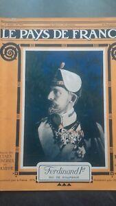 Rivista Il Paesi Di Francia Il Mattina N° 100 Parigi 1916 Ferdinand 1ER ABE