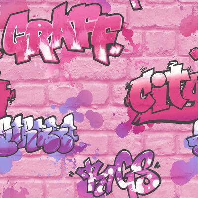 Rasch Urban Graffiti Pink Glitter Wallpaper 272918 4000441272918 Ebay