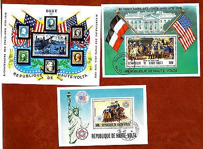 :jahrhunderte Der Vereinigte Staaten Sp19 Briefmarken Haute Volta 3 Sätze P.a